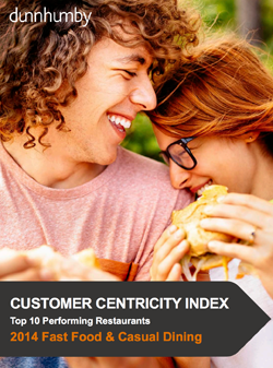 Customer Centricity Index Top 10 Performing Restaurants 2014 Fast Food  Casual Dining