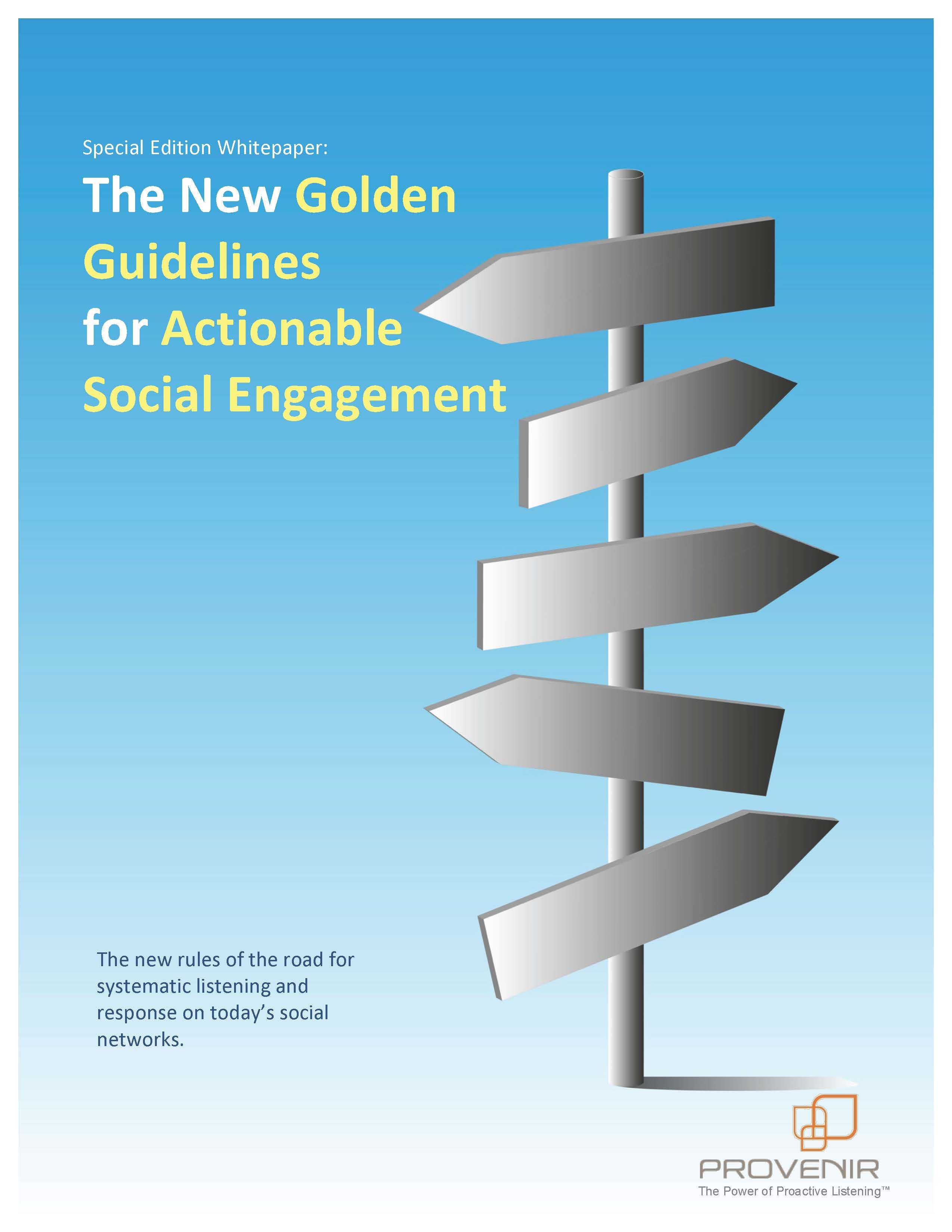 The New Golden Guidelines for Actionable Social Engagement
